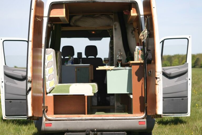 Campervan hire in Somerset: Ashleigh has a charming, cottage-style look that just invites you to drift away for lazy together time.