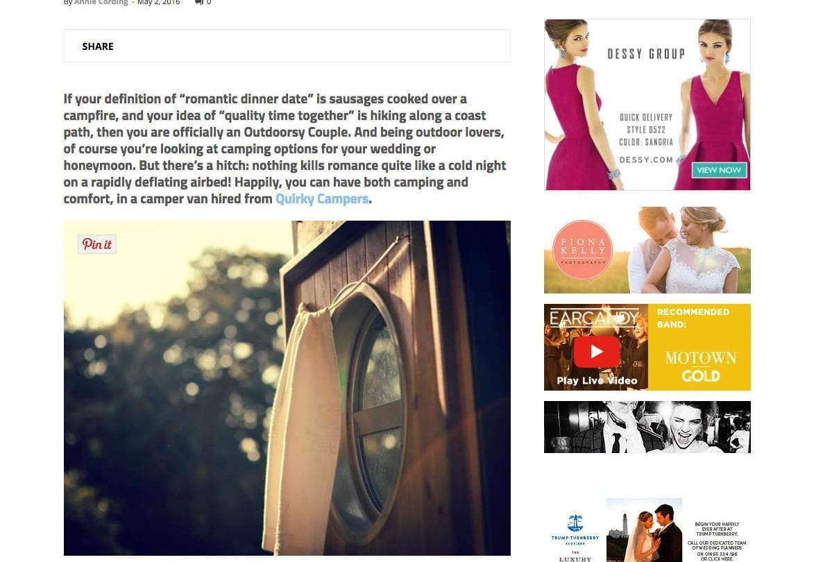 Wedding Ideas Website Quirky Campers