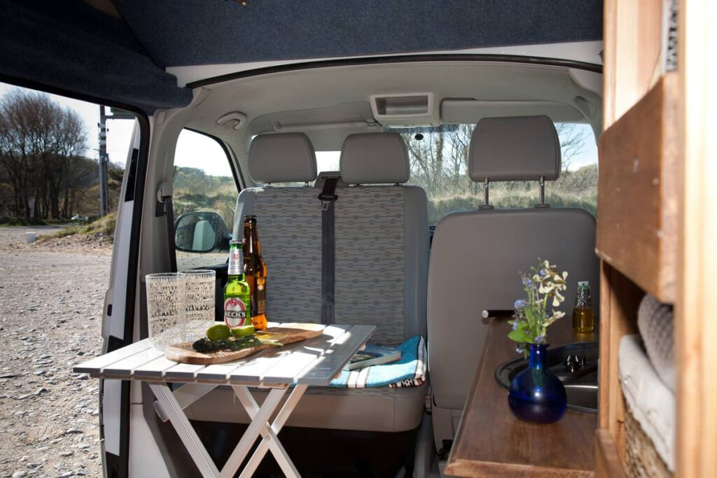 wild camping in a campervan in Wales