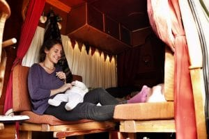 get comfortable in a campervan with a baby