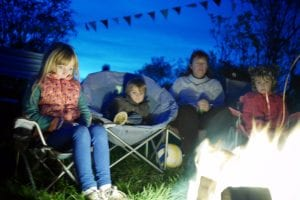 kids around the campfire