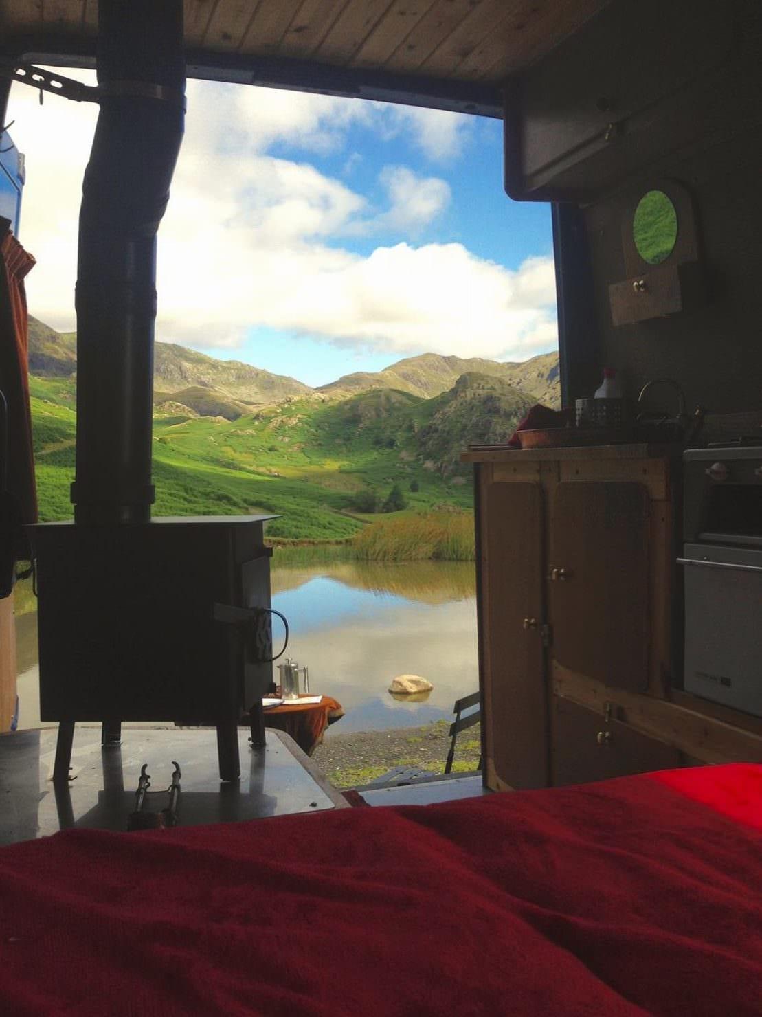 stunning views from elvira campervan on an adventure