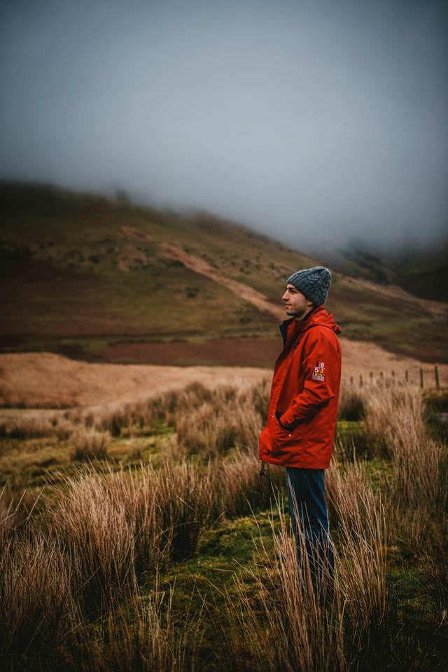 A man in a field in Ireland