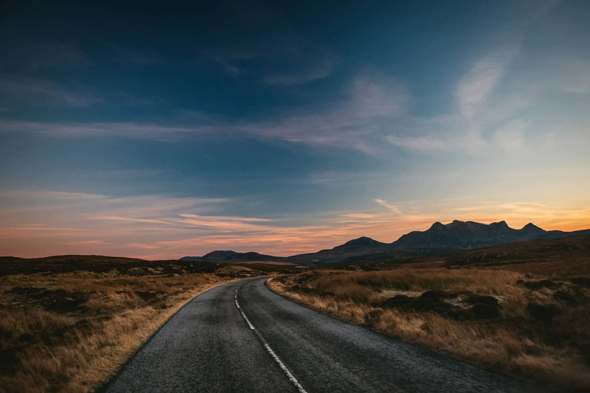 An empty road in Ireland