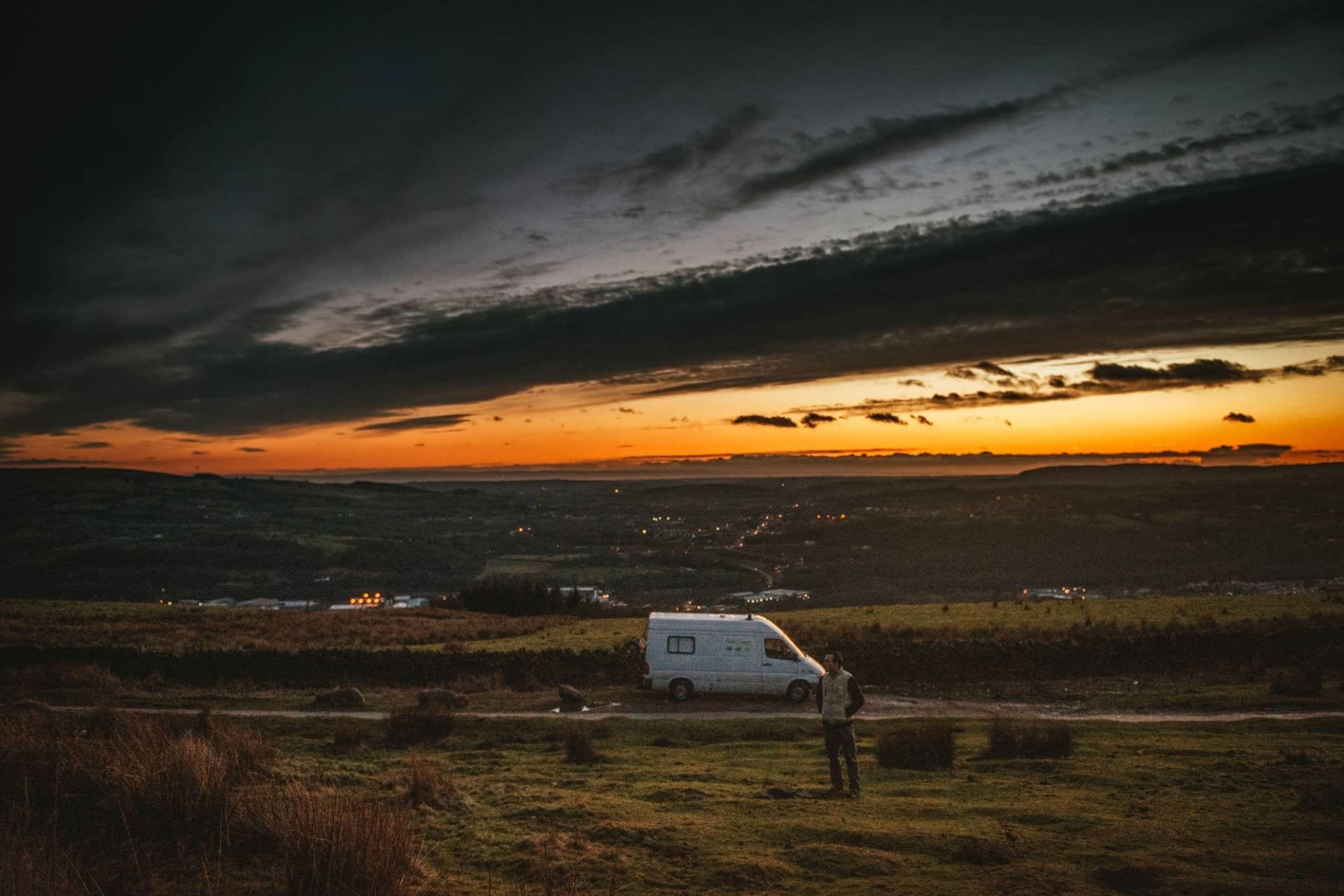 A campervan in Ireland