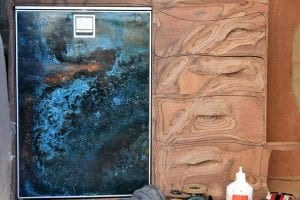 Isotherm Comperssor Fridge with patinated copper front panel made from old water cylinder