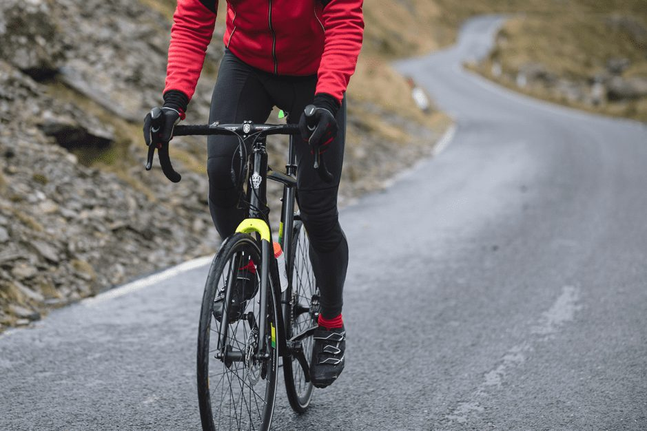 A cyclist in Wales