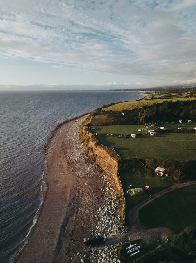 The coastline of Wales