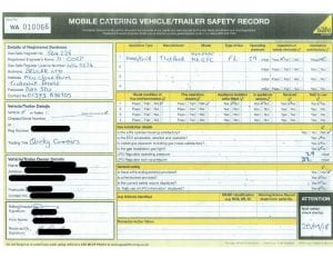 screen shot of trailer safety record