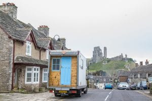 campervan in a village in south England