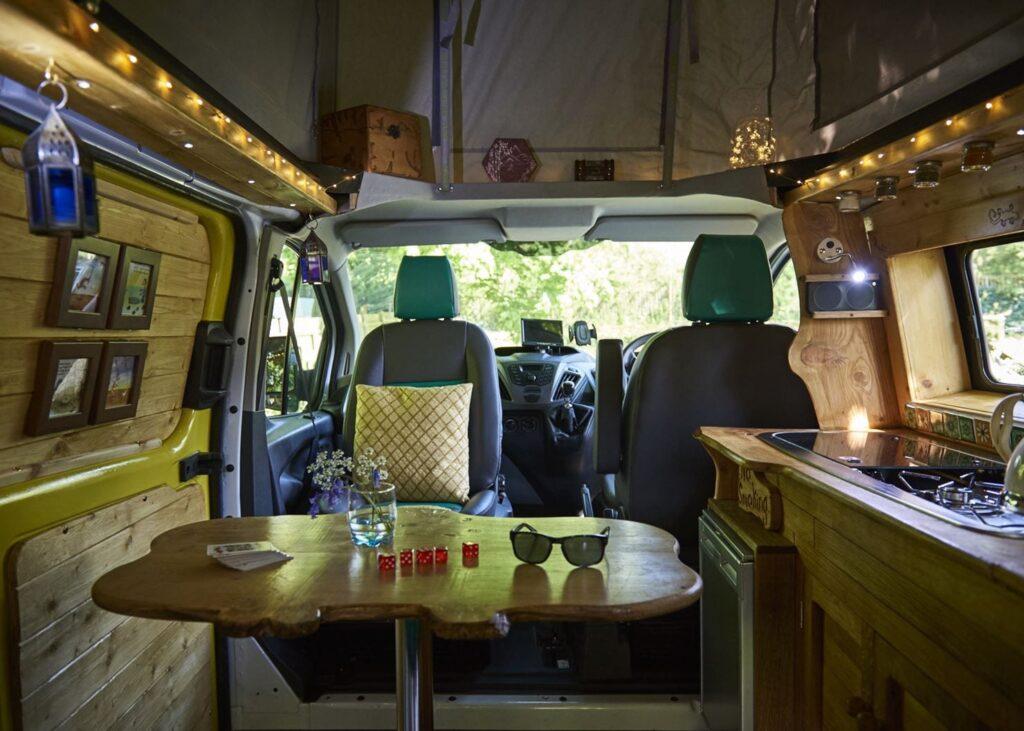pop top VW campervan for hire