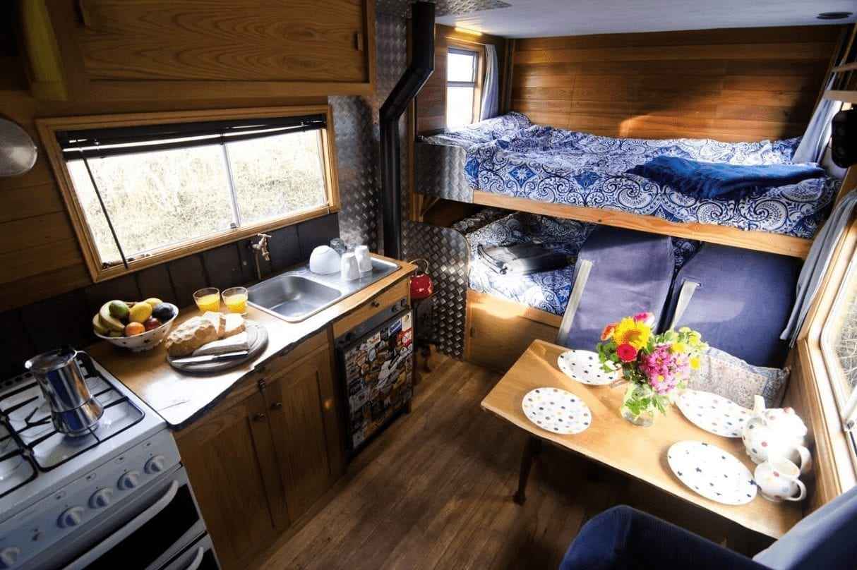 Large handmade campervan sleeps 4 in two double beds
