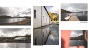 collage of water, lochs and puddles in the Isle of Skye, Scotland.