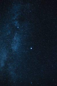 The night sky with stars taken from Isle of Skye Scotland