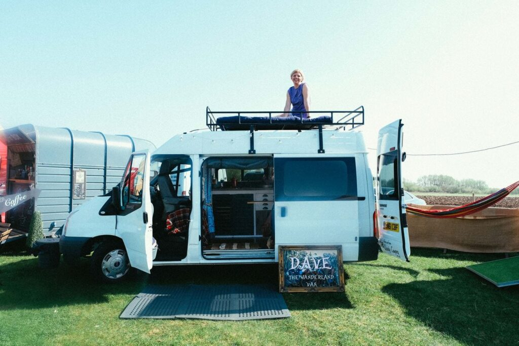 Campervans open up their doors for people to look round