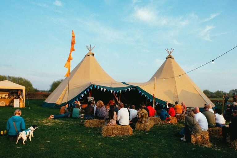 Double tipi at Camp Quirky