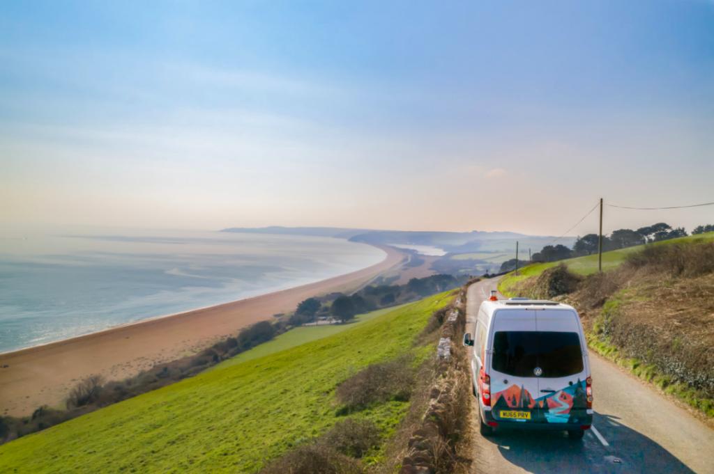 Campervan hitting the open road