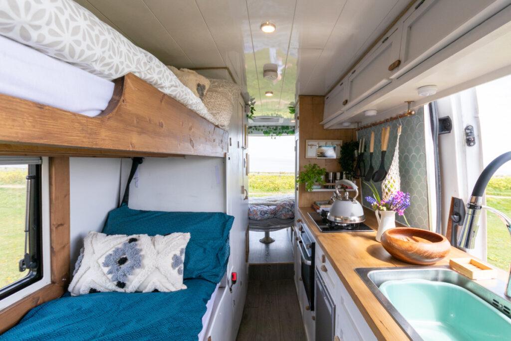 Campervan with bunkbeds