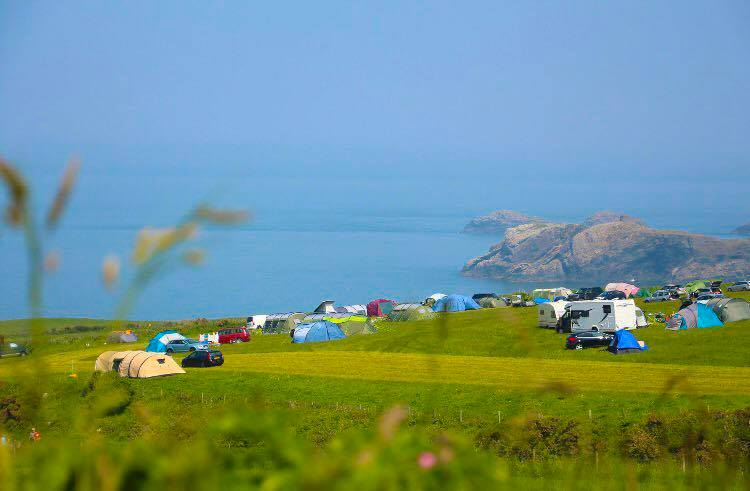 Welsh campsite with ocean views