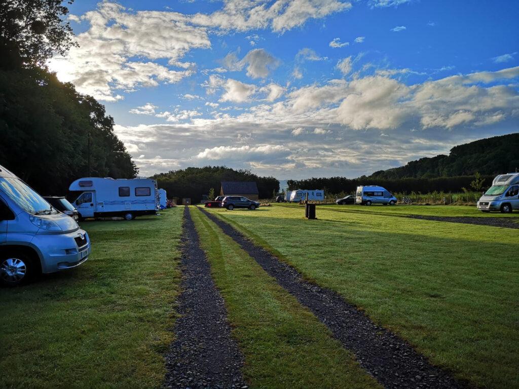 Glanusk campsite in Wales